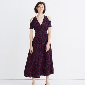madewell no 6 vintage rose silk maxi dress NWT